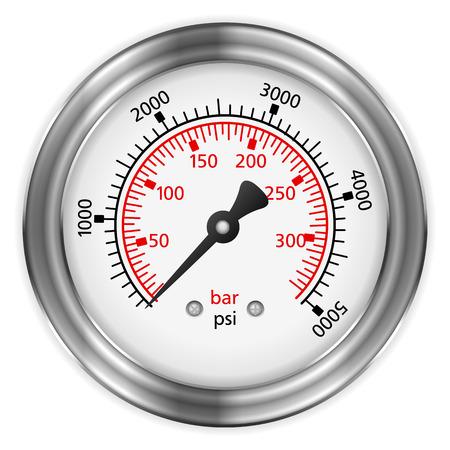 manometer: Manometer on a black background.