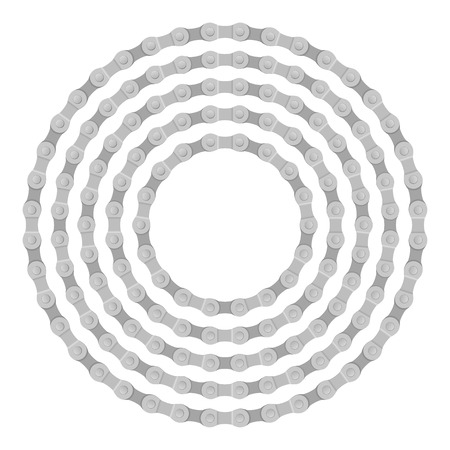 bike chain: Bike chain circle on a white background. Illustration