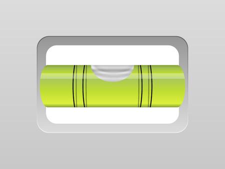 bubble level: Bubble level on a grey background Illustration