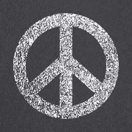 bitumen: Asphalt road peace symbol background. Vector illustration.