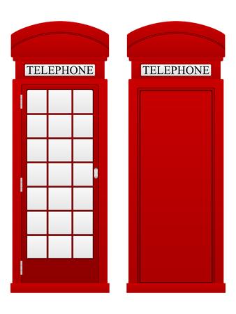 phonebox: Telephone box on a white background.