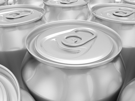 drink can: Aluminum drink can background. 3D rendering background. Stock Photo