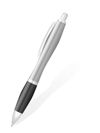 writing instruments: Ballpoint pen a on white background.