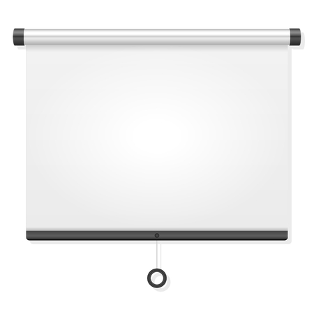 projection screen: Projection screen on a white background.