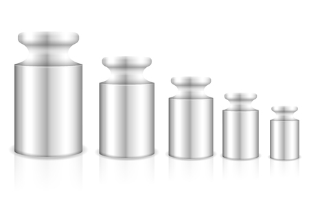 kilograms: Calibration weight on a white background. Vector illustration.