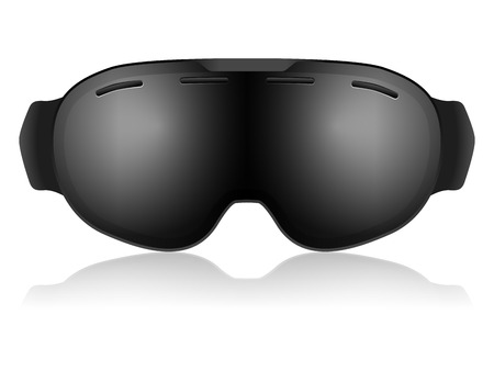 ski goggles: Ski goggles on a white background.