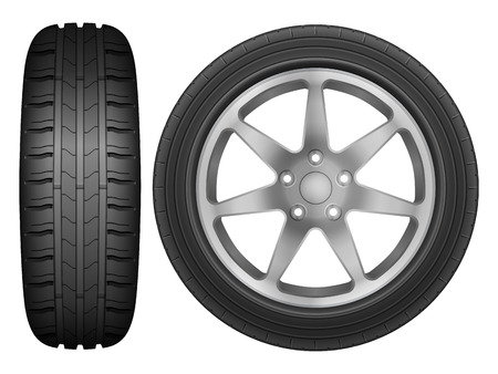 rim: Car wheel rim tire on a white background.