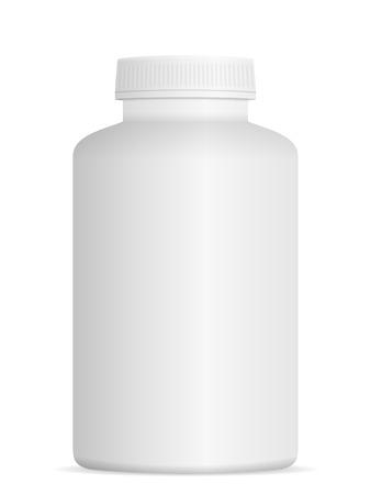 prescription bottles: Medicine pill bottle on a white background. Illustration