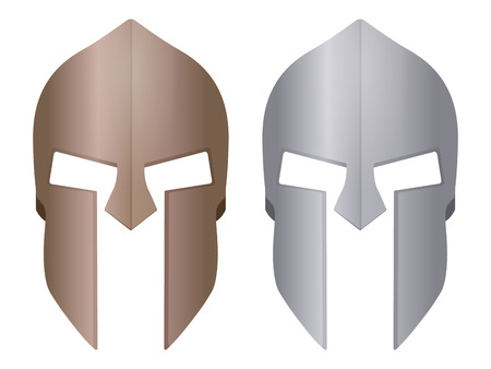 Spartan helmet on a white background.