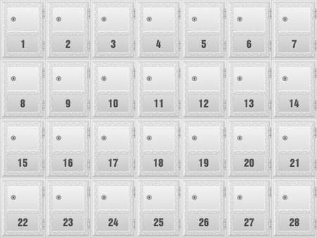 mailboxes: Mailboxes for apartment building background. Illustration