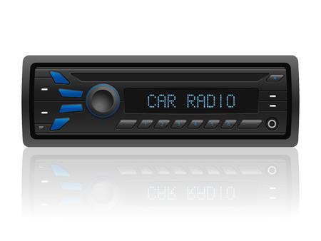 Autoradio op een witte achtergrond. Vector illustratie.