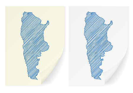 frontier: Argentina scribble map on a white background.