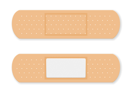 adhesive plaster: Sticking plaster  on a white background.