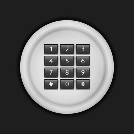 combination lock: Combination lock on a black background.