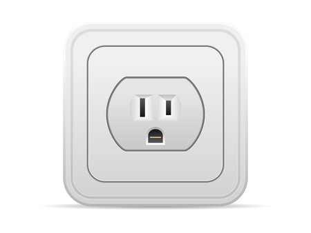outlet: Power outlet on a white background. Illustration