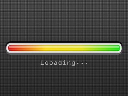 Loading bar on a black background.