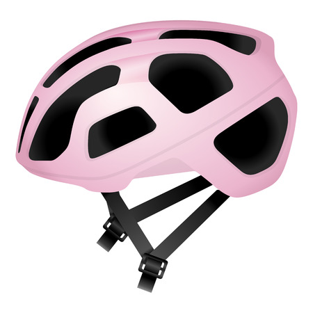 cycling helmet: Cycling helmet on a white background. Illustration