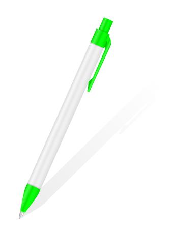 Ballpoint pen a on white background.