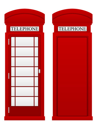 phonebox: Telephone box on a white background.