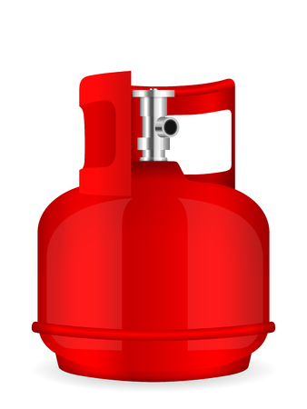 gas cylinder: Propane gas cylinder on a white background.