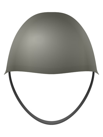 military helmet: Military helmet on a white background.
