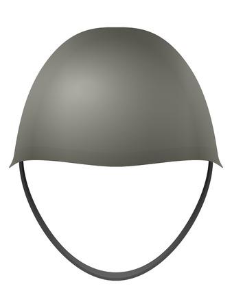 straps: Military helmet on a white background.