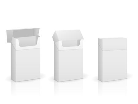 pasteboard: Cigarette box set on a white background.
