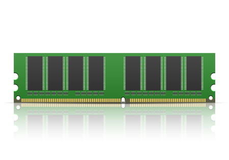 dimm: Computer memory on a white background. Illustration