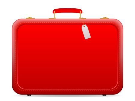 Travel suitcase on a white background. Illusztráció