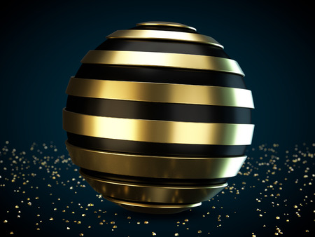 globe illustration: Helix sphere on a abstract background. 3D illustration.