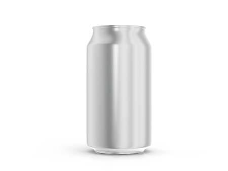 canned drink: Aluminum drink can on a white background.