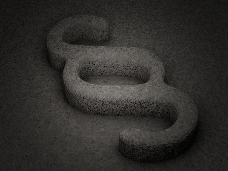 paragraph: Stone paragraph symbol textured background. 3D illustration. Stock Photo