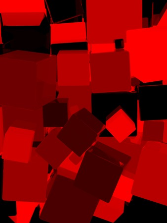 red cube: Shiny red cube 3d abstract background.