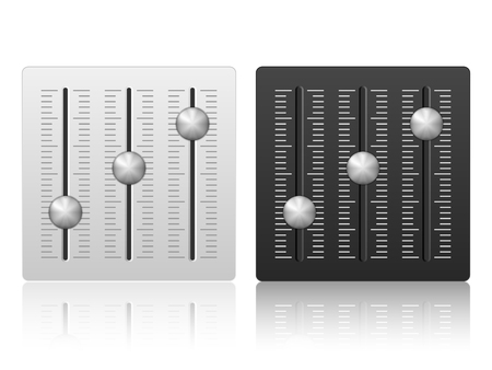 mixing: Mixing console icon on a white background. Illustration