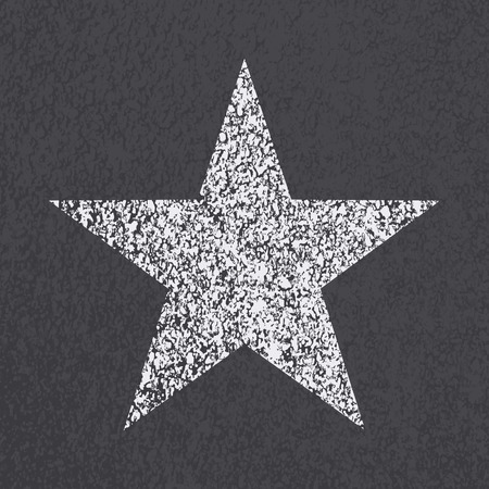 bitumen: Asphalt road star symbol background. illustration.