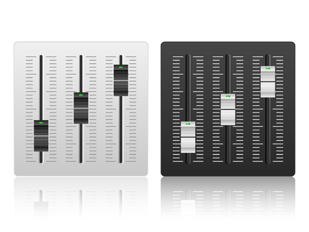 mixing console: Mixing console icon on a white background. Illustration