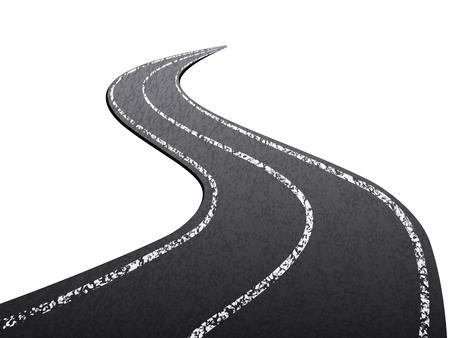 asphalt texture: Asphalt road on a white background.