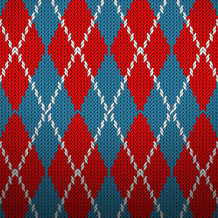 pattern: Seamless knitted pattern background texture. Vector illustration.