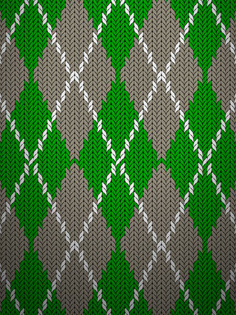 argyle: Seamless knitted pattern background texture. Vector illustration.