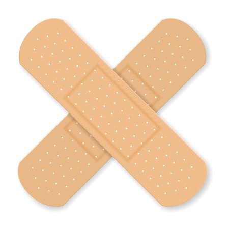 Sticking plaster  on a white background. Banco de Imagens - 82109638