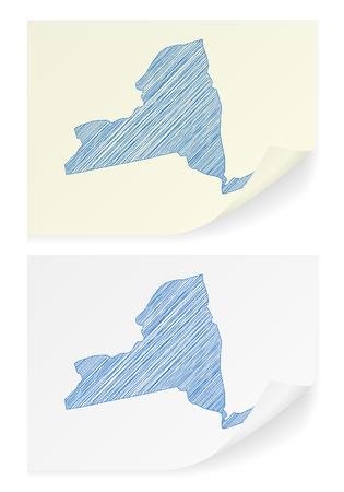 ニューヨークの落書きホワイト バック グラウンド地図