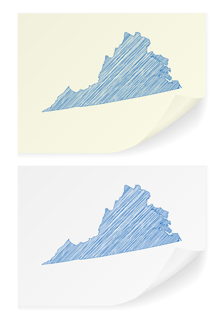 virginia: Virginia scribble map on a white background.
