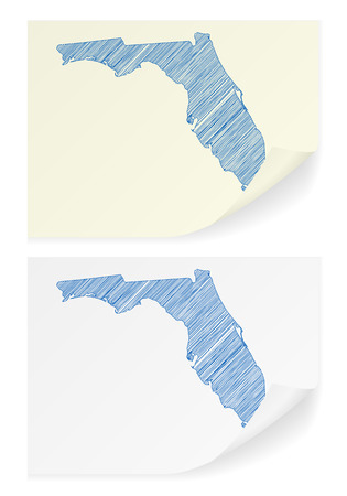 Florida scribble map on a white background. Illustration