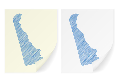 Delaware scribble map on a white background.