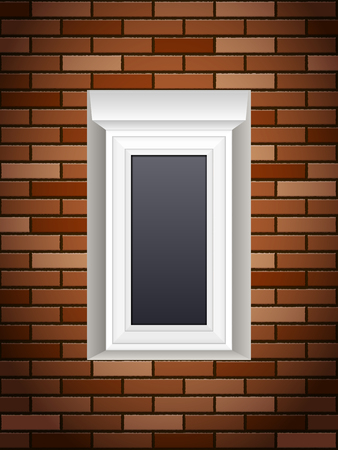 Window on a brick wall.