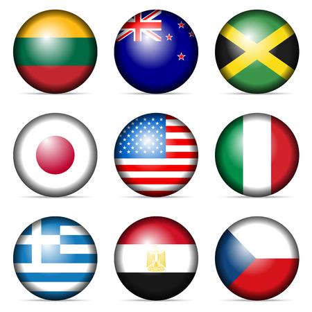 Nationale vlag op een witte achtergrond.