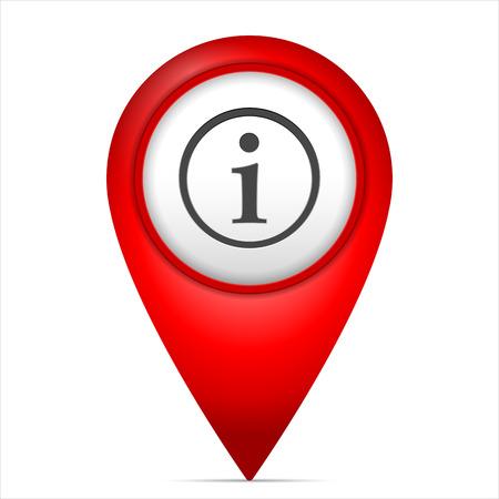 Kaartmarkering met infosymbool op een witte achtergrond. Stockfoto - 89528392