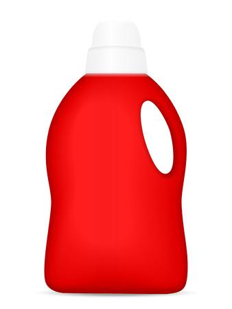 Detergent bottle on a white background Vector illustration.