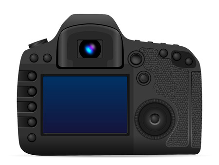 Photo camera on a white background Vector illustration.