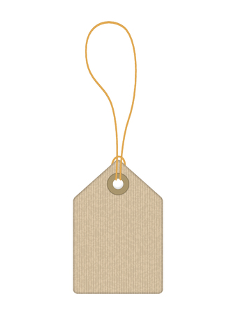 Price tag on a white background vector illustration.